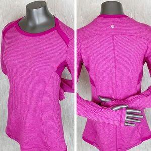 Lululemon | Raspberry Base Runner Long Sleeve Top